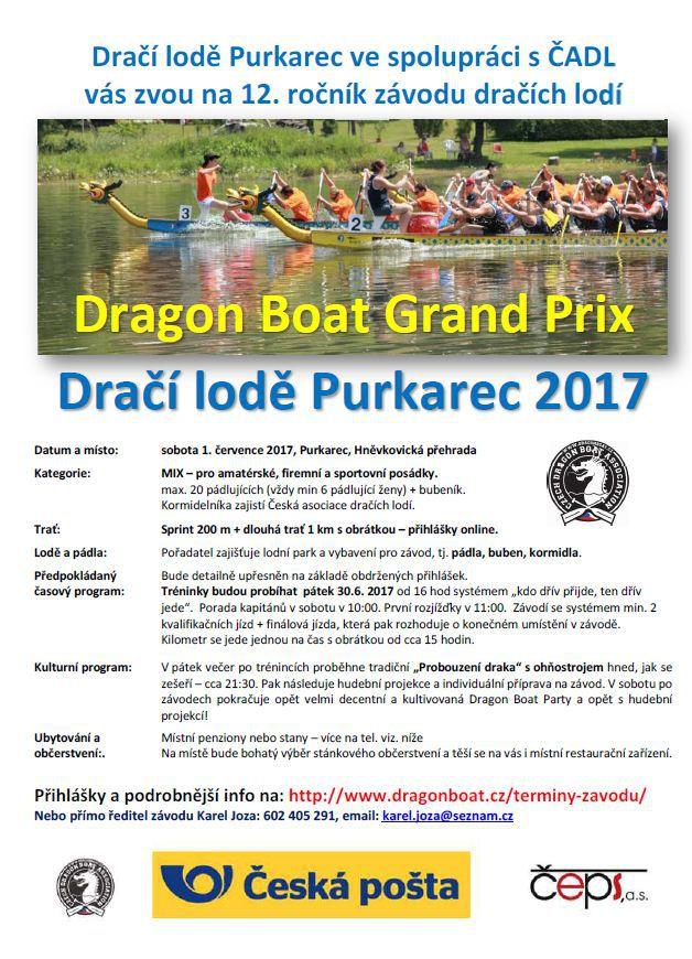 Dragon Boat Grand Prix: Dračí lodě Purkarec 2017