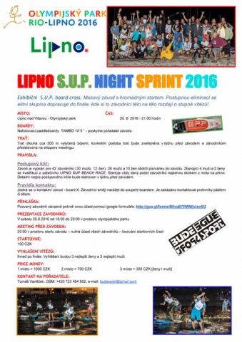 LIPNO SUP Night Sprint
