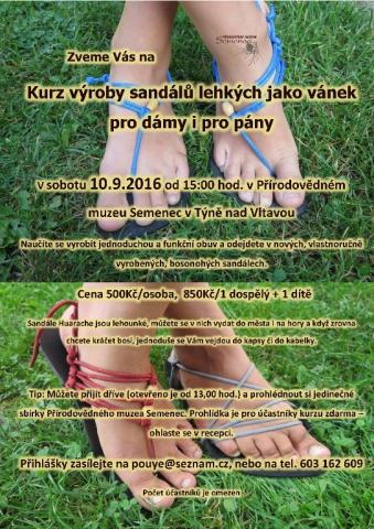 Kurz výroby sandálů