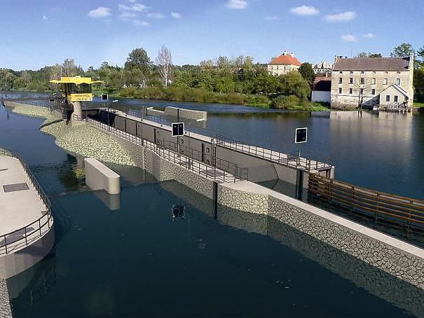 Slavnostní otevření plavební komory Hněvkovice