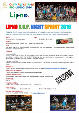 LIPNO SUP Night Sprint