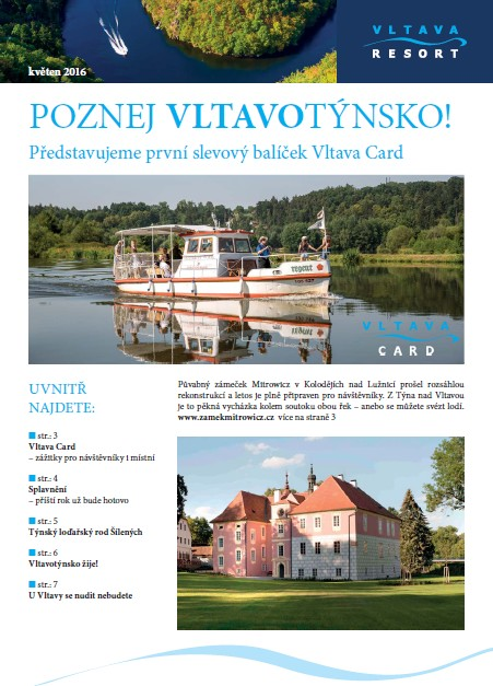 Druhé číslo novin Vltava Resort